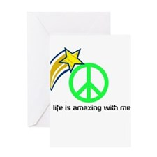 life is amazing with me Greeting Card