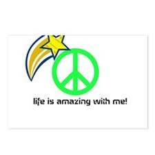 life is amazing with me Postcards (Package of 8)