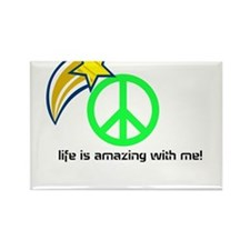 life is amazing with me Rectangle Magnet
