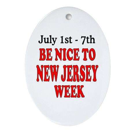 NJ Week Ornament (Oval)