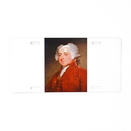 Founding Fathers: John Adams Aluminum License Plat