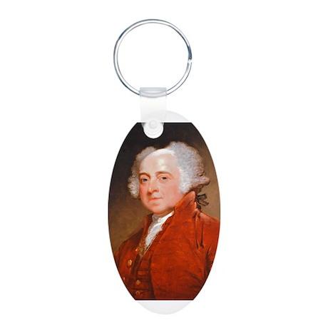 Founding Fathers: John Adams Aluminum Oval Keychai