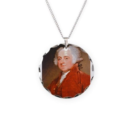 Founding Fathers: John Adams Necklace Circle Charm