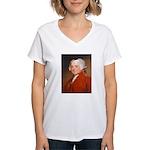 Founding Fathers: John Adams Women's V-Neck T-Shir