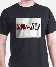 groomzilla red and black T-Shirt