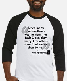 Pope Mercy Quote Baseball Jersey