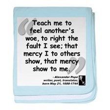 Pope Mercy Quote baby blanket
