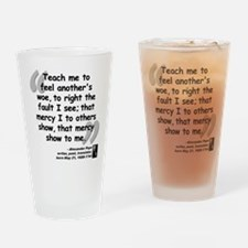 Pope Mercy Quote Drinking Glass