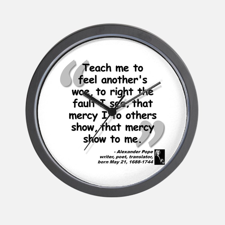 Pope Mercy Quote Wall Clock