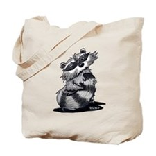 Bashful Raccoon Tote Bag