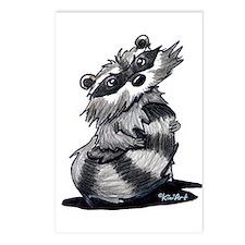 Bashful Raccoon Postcards (Package of 8)