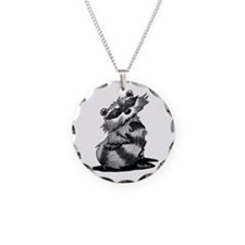 Bashful Raccoon Necklace