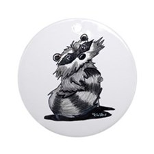Bashful Raccoon Ornament (Round)