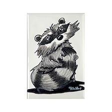 Bashful Raccoon Rectangle Magnet (10 pack)