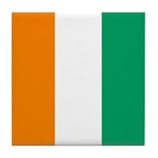 Ivory Coast Flag Tile Coaster