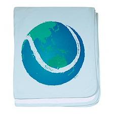 world tennis ball globe baby blanket