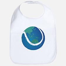 world tennis ball globe Bib