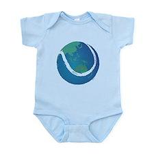 world tennis ball globe Infant Bodysuit