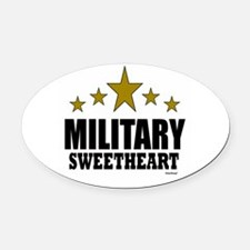 Military Sweetheart Oval Car Magnet