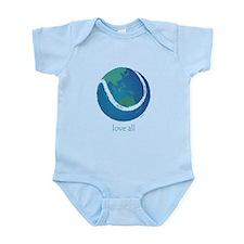 love all world tennis Infant Bodysuit
