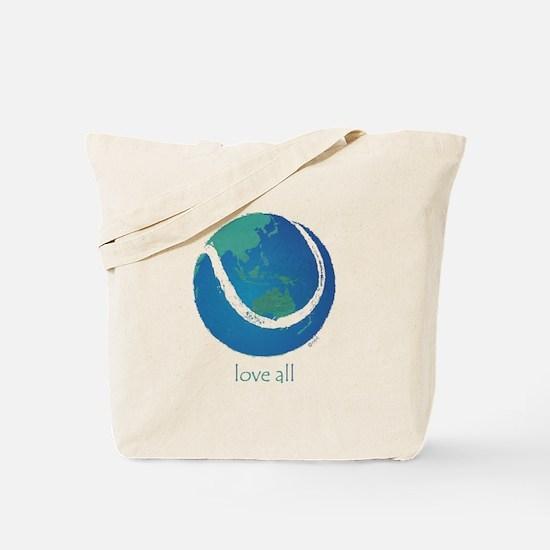 love all world tennis Tote Bag