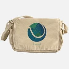 love all world tennis Messenger Bag