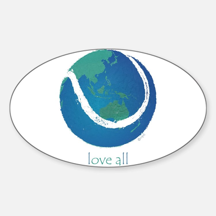 love all world tennis Decal