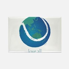 love all world tennis Rectangle Magnet