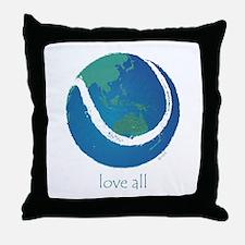 love all world tennis Throw Pillow