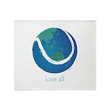 Love all world tennis Fleece Blankets