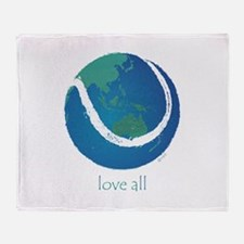 love all world tennis Throw Blanket