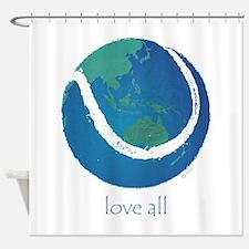 love all world tennis Shower Curtain