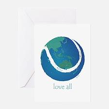love all world tennis Greeting Card