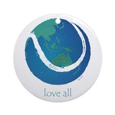 love all world tennis Ornament (Round)