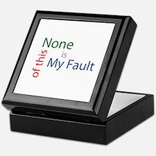 Not My Fault Keepsake Box
