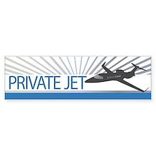 Aircraft Private Jet Bumper Sticker