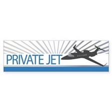 Aircraft Private Jet Car Sticker