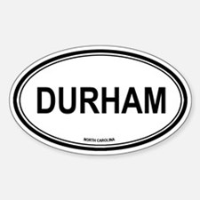 Durham (North Carolina) Oval Decal