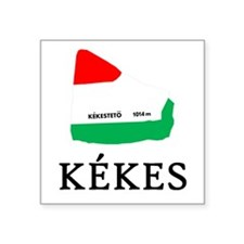 "Kekes - 3"" x 3"" square sticker (white)"