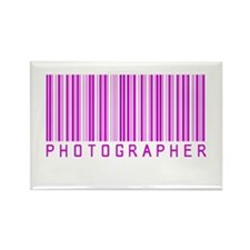 PHOTOGRAPHER BAR CODE Rectangle Magnet PURPLE