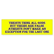 Theist vs Atheist Bumper Bumper Sticker
