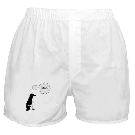 Moo Penguin Bird Boxer Shorts