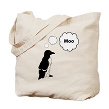 Moo Penguin Bird Tote Bag