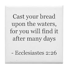 Ecclesiastes 2:26 Tile Coaster