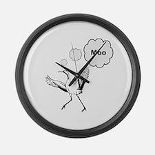 MOOstork Stork Egret Large Wall Clock