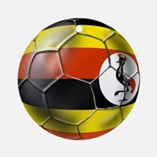 Uganda Football Ornament (Round)