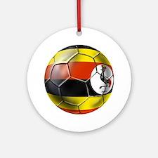 Uganda Football Ornament (Round)