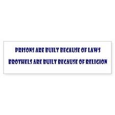 Religion's Brothels Bumper Bumper Sticker