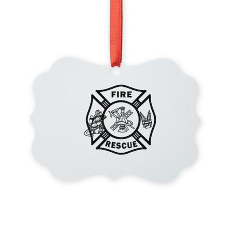 Fire Rescue Picture Ornament