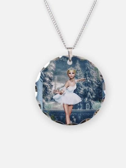 Snow Princess Nutcracker Bal Necklace